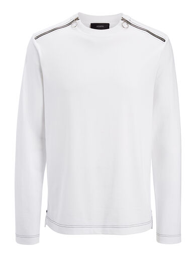 Heavy T-Shirting Top, in WHITE, large | on Joseph