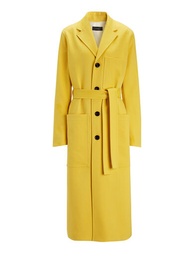 Technical Whipcord Mag Coat, in OCHRE, large | on Joseph