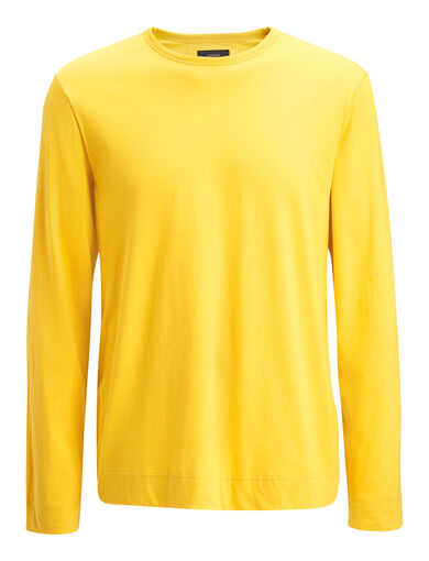 Mercerized Jersey Top, in YOLK, large | on Joseph