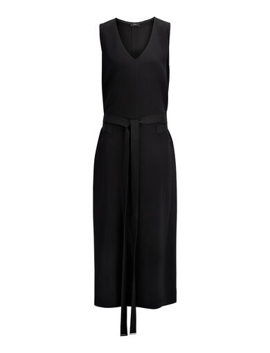 Viscose Stretch Maggie Dress, in BLACK, large | on Joseph