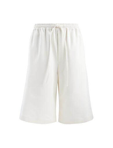 Short Boxer en coton compac, in WHITE, large | on Joseph
