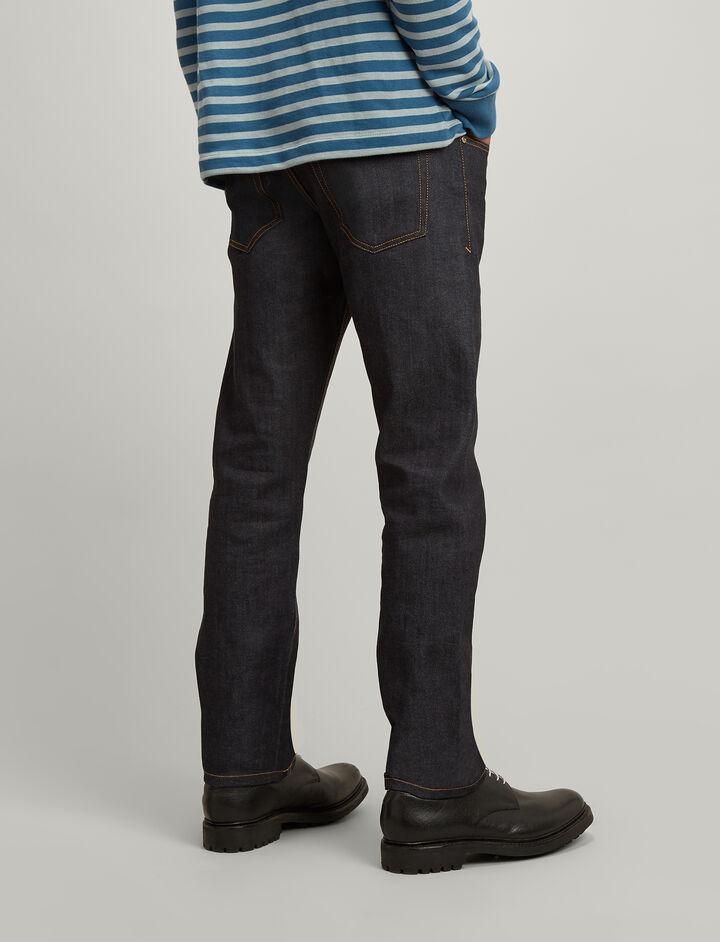 Denim Stretch James Trousers, in DARK INDIGO, large | on Joseph