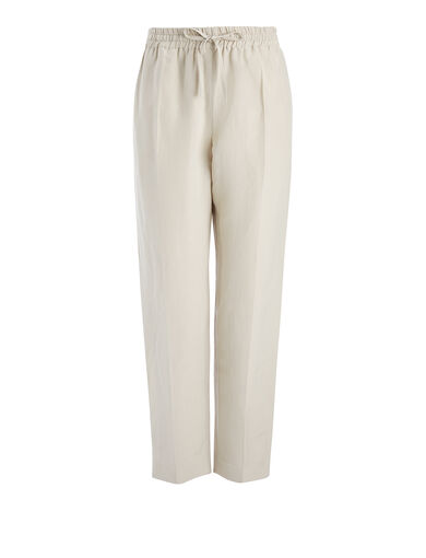 Vintage Silk Louna Trouser, in COCONUT, large | on Joseph