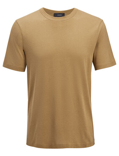Lyocell Jersey Tee, in CLAY, large | on Joseph