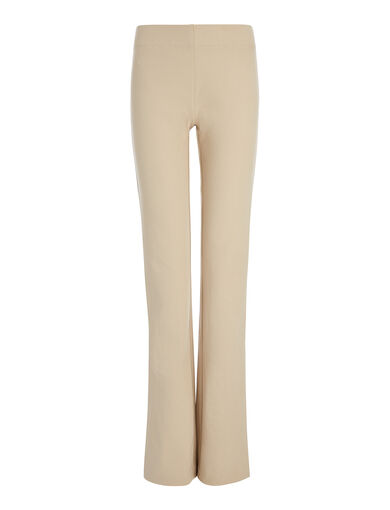 Gabardine Stretch Lex Trouser, in BEIGE, large | on Joseph