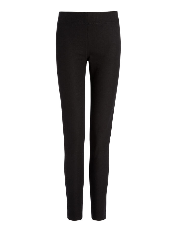 Gabardine Stretch Leggings, in BLACK, large | on Joseph
