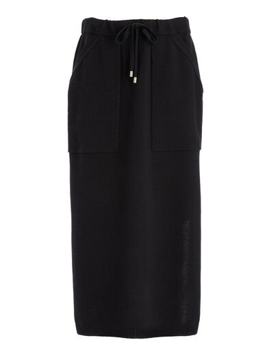 Farrah Knit Skirt, in BLACK, large | on Joseph