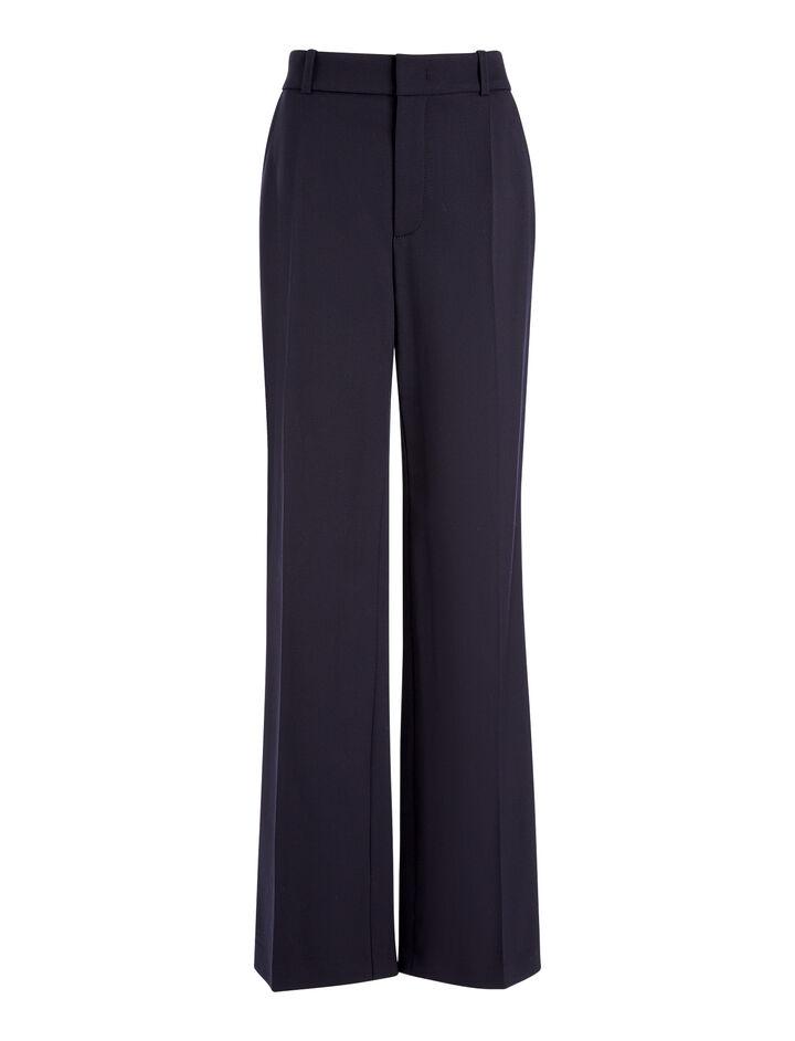 Stretch Wool Ferdy Trousers, in NAVY, large | on Joseph