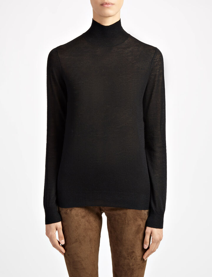 Joseph, Cashair High Neck Sweater, in BLACK