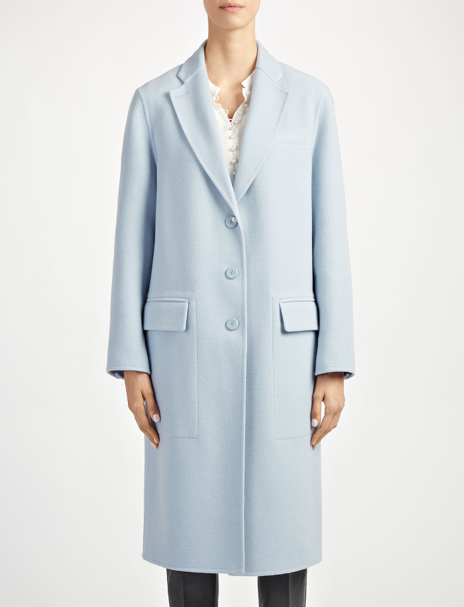 Joseph, Double Face Wool Simo Coat, in POWDER BLUE