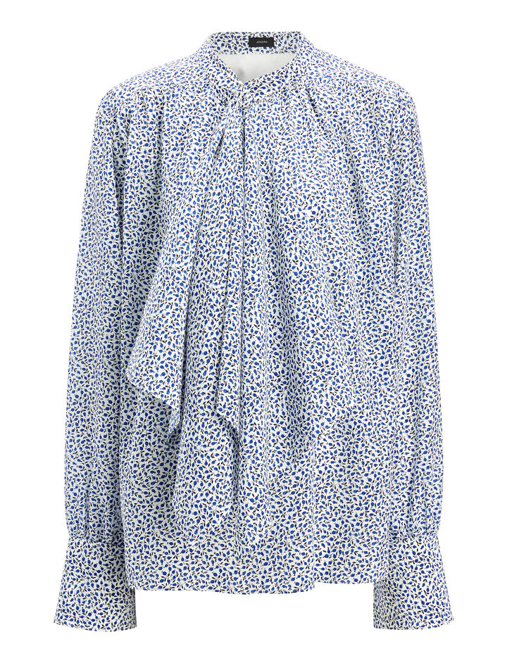 Liberty Print Cora Blouse, in SAPHIRE, large | on Joseph