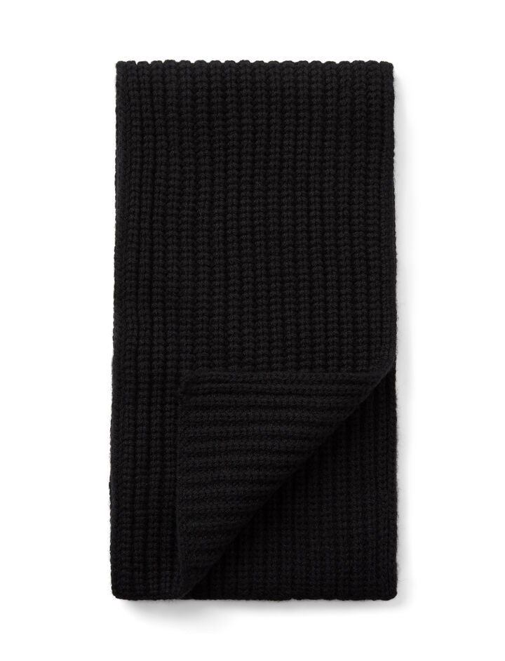 Cardigan Cashmere Scarf, in BLACK, large | on Joseph