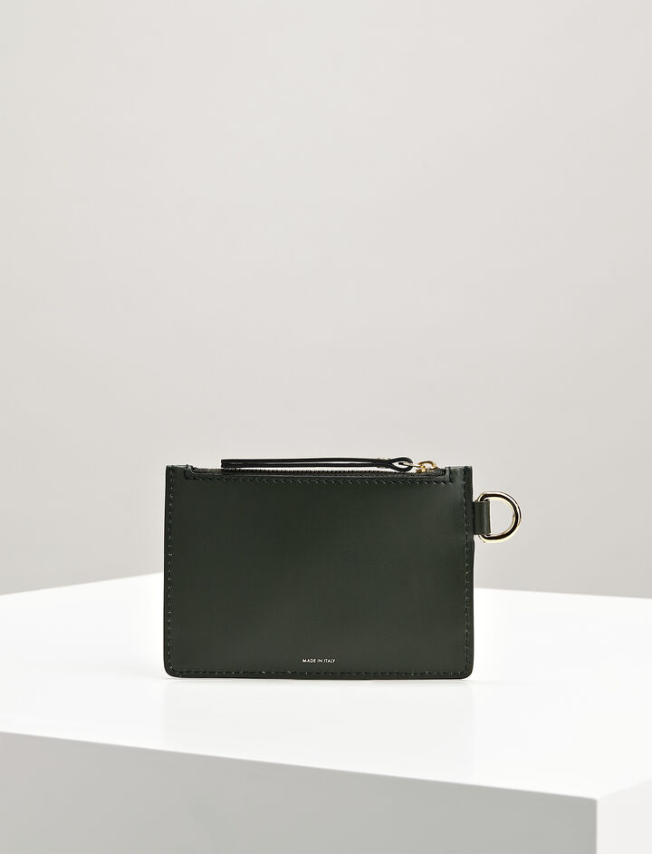 Calf-Leather Pouch, in FOREST, large | on Joseph