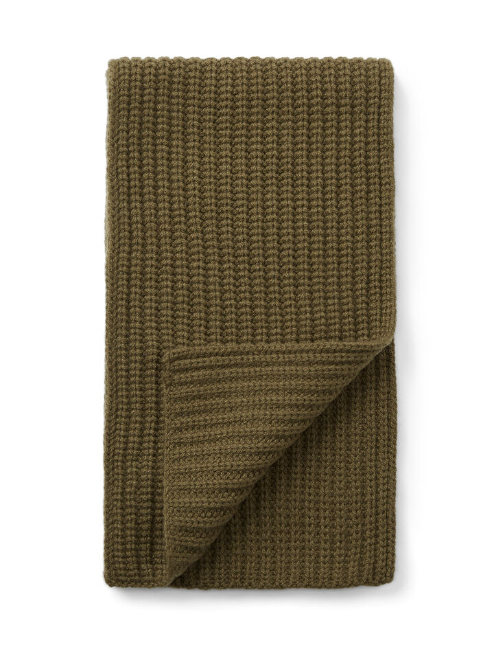 Cardigan Cashmere Scarf, in ARMY, large | on Joseph