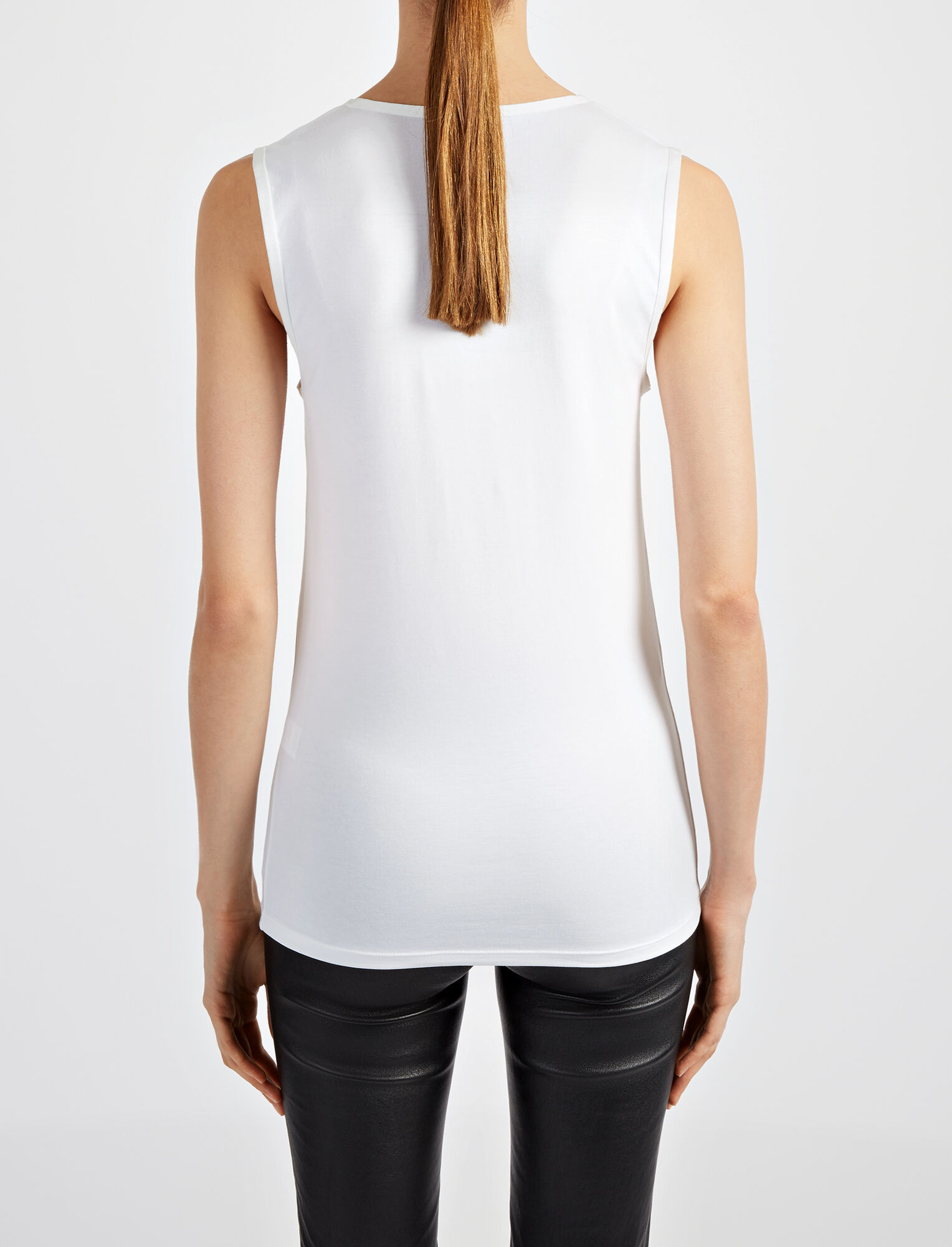 Joseph, Cotton Lyocell Stretch Tank, in OFF WHITE