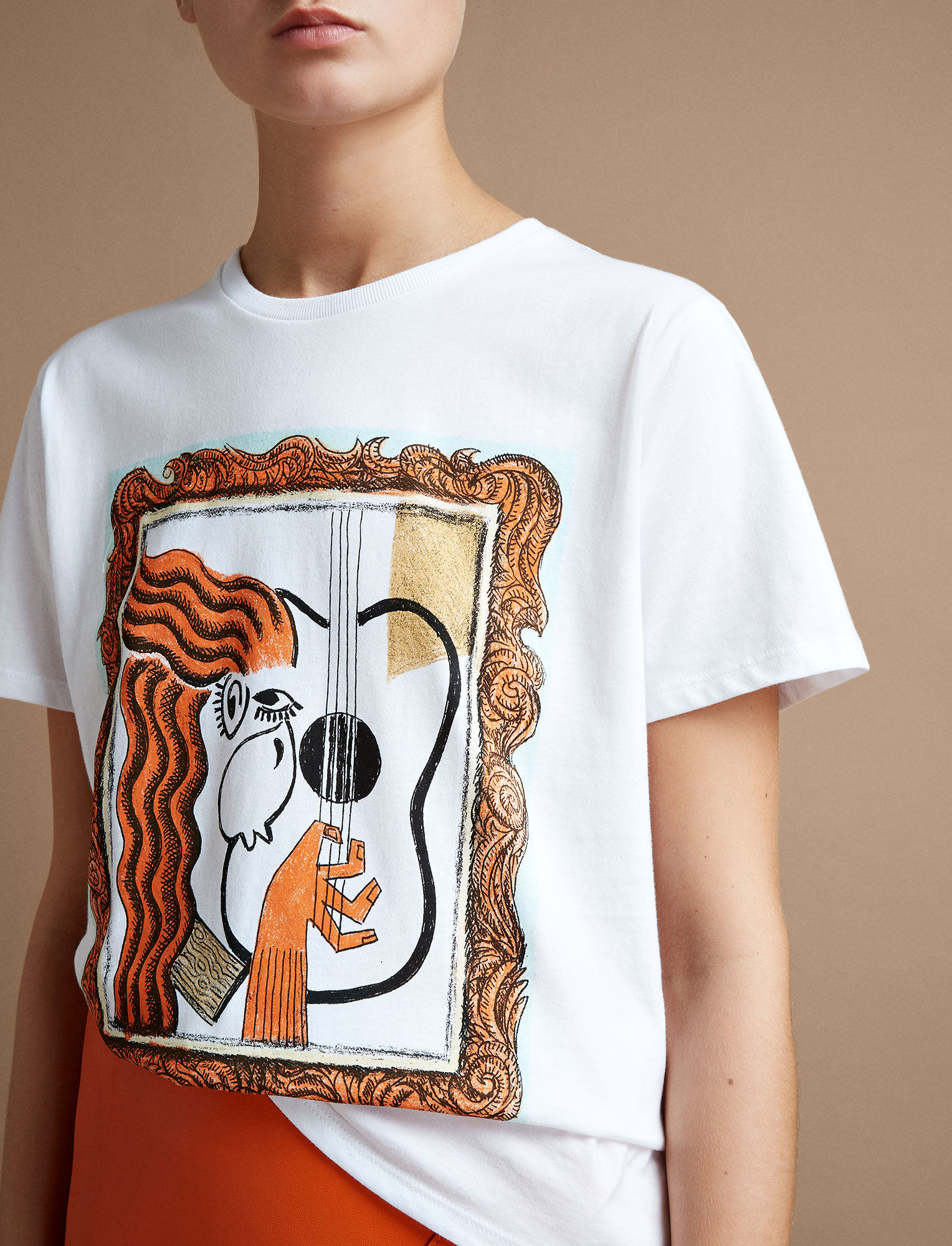 Joseph, GingerNutz Guitar Tee, in WHITE