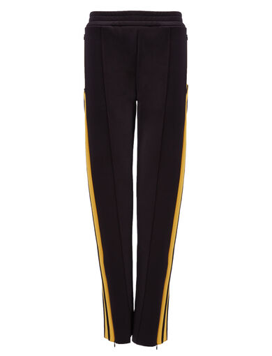 Scuba Track Pants, in BLACK/YOLK, large | on Joseph