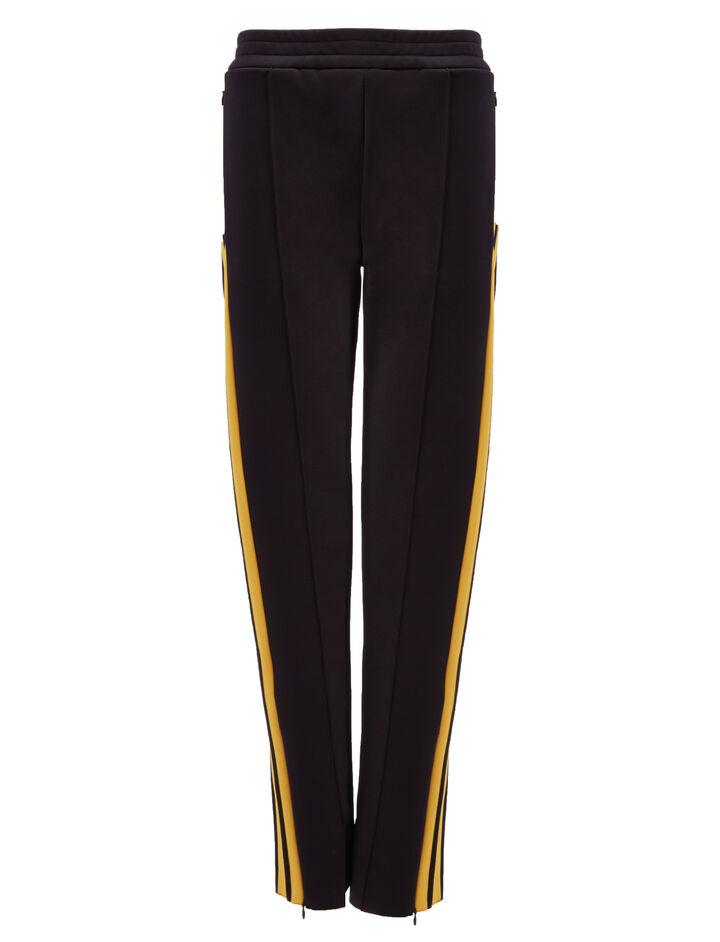 Scuba Track Pants, in BLACK/YOLK, large | on Joseph
