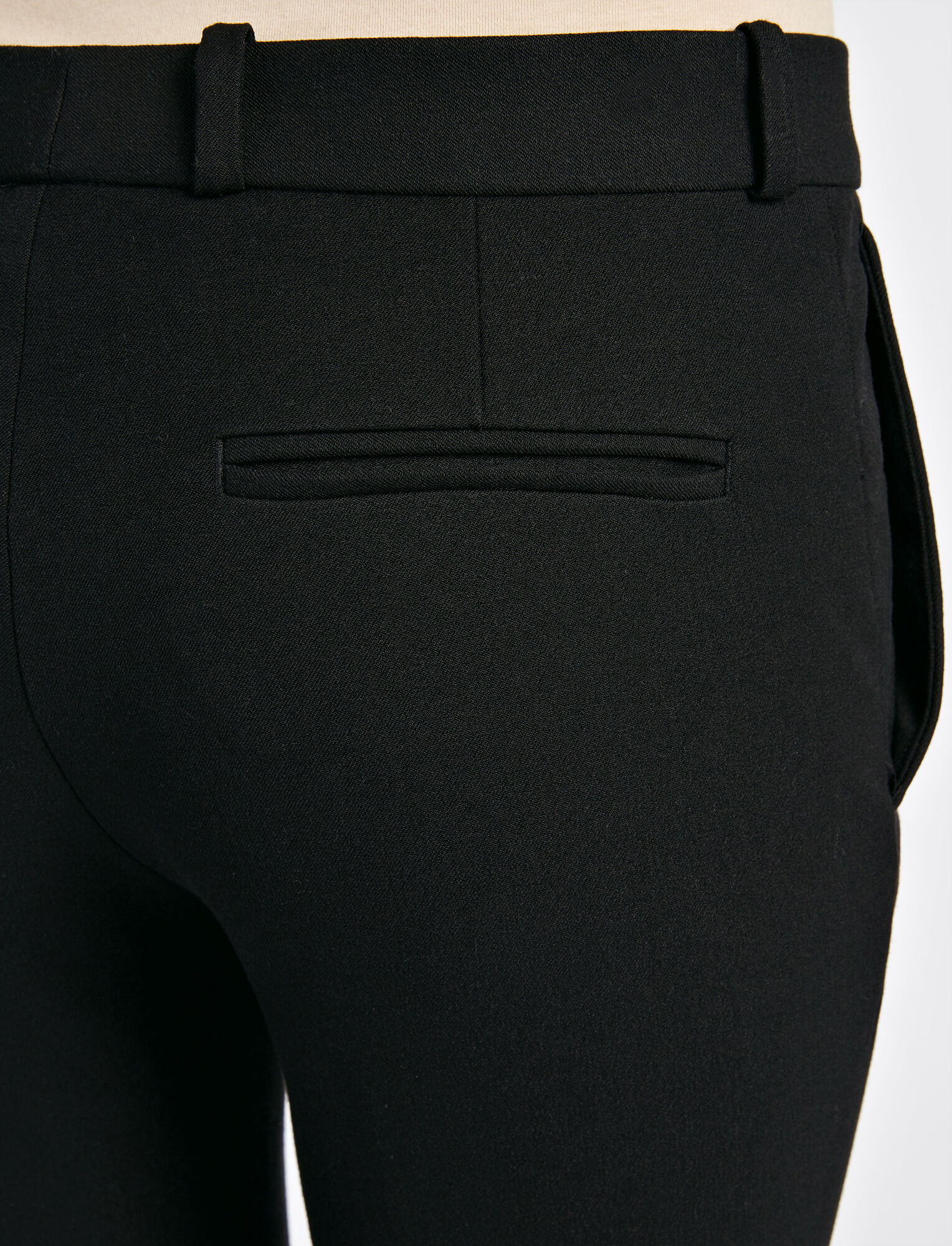 Gabardine Stretch New Rocket Trouser, in BLACK, large | on Joseph