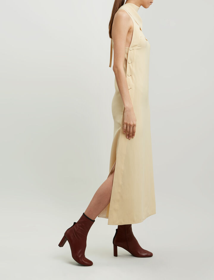 Joseph, Ceil Fluid Twill Dress, in BUTTER