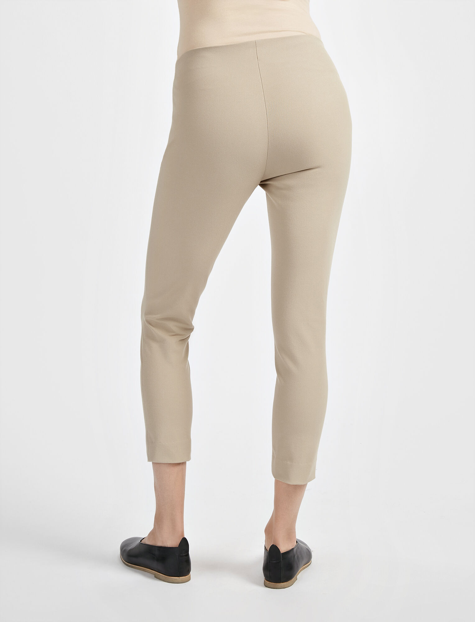 Gabardine Stretch New Tony Cropped Trouser, in BEIGE, large | on Joseph