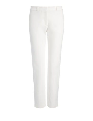 Pantalon New Eliston en gabardine stretch, in OFF WHITE, large | on Joseph