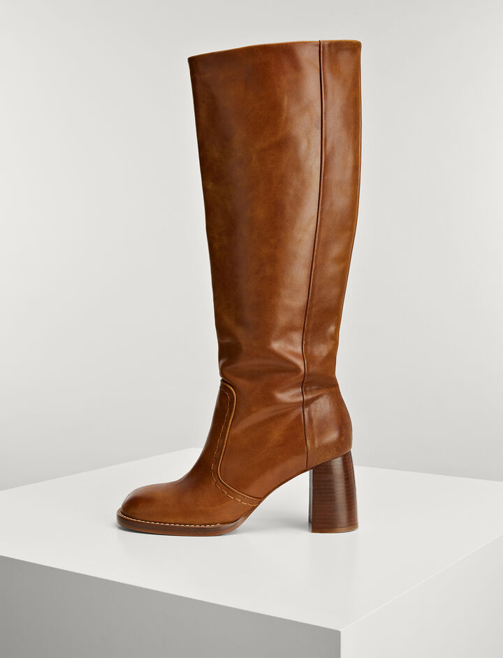 Calf Leather Thompson Boots, in TAN, large | on Joseph