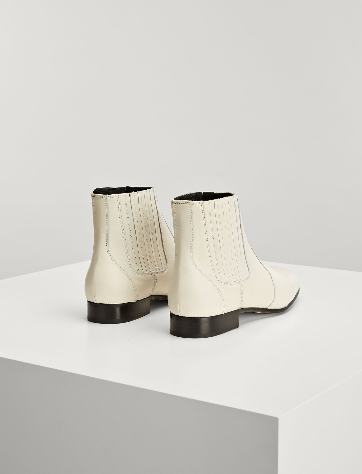 Joseph, Calf Leather Pixie Boot, in WHITE