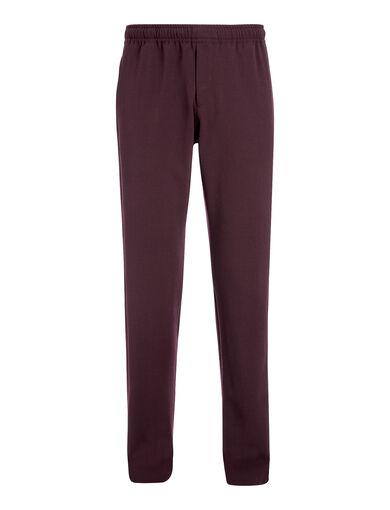 Pantalon Ettrick en laine techno stretch, in BURGUNDY, large | on Joseph