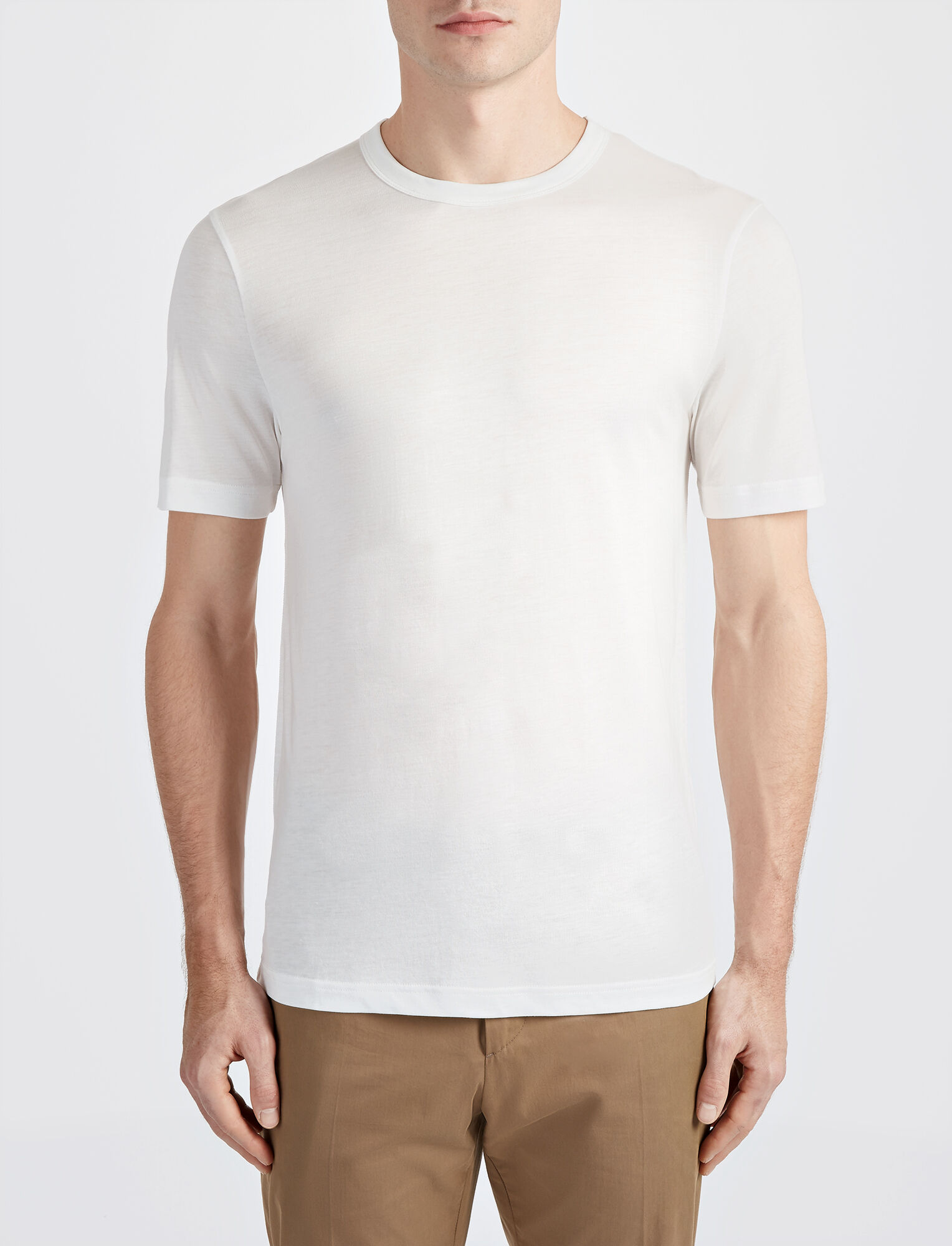 Lyocell Jersey Tee, in WHITE, large | on Joseph