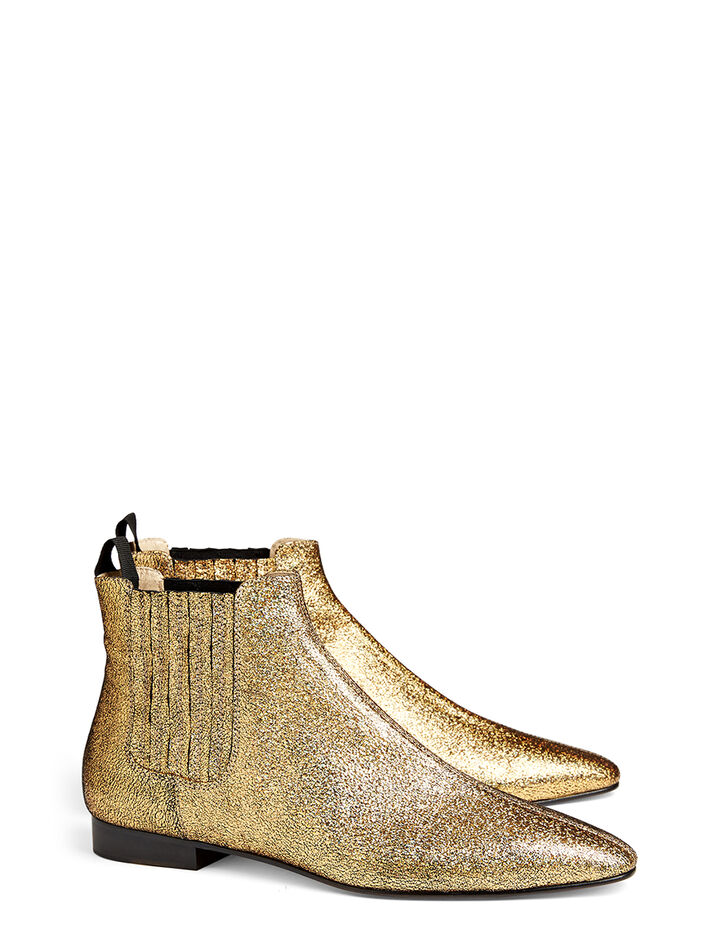 Bottines Pixie en cuir nappa, in GOLD, large | on Joseph