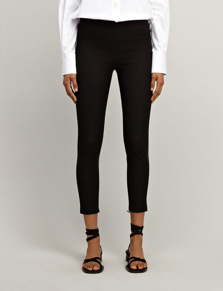 Gabardine stretch Nitro Trousers, in BLACK, large | on Joseph