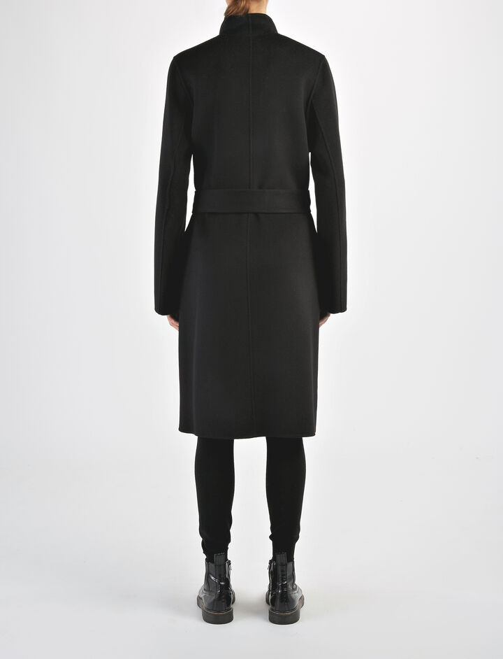 Double Face Cashmere Lima Coat, in BLACK, large | on Joseph