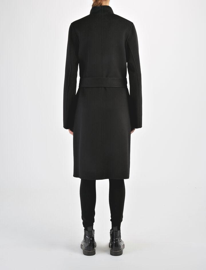 Double Face Cashmere Lima Coat, in BLACK, large   on Joseph