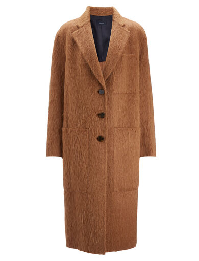 Double Alpaga Jimo Coat, in TOFFEE, large | on Joseph