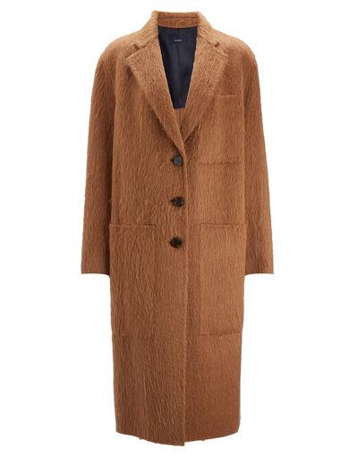 Double Alpaga Jimo Coat, in TOFFEE, large | on Joseph