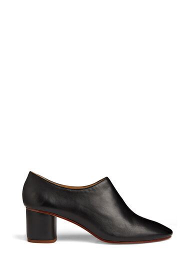 Calf Leather Ballerina Mule, in BLACK, large | on Joseph