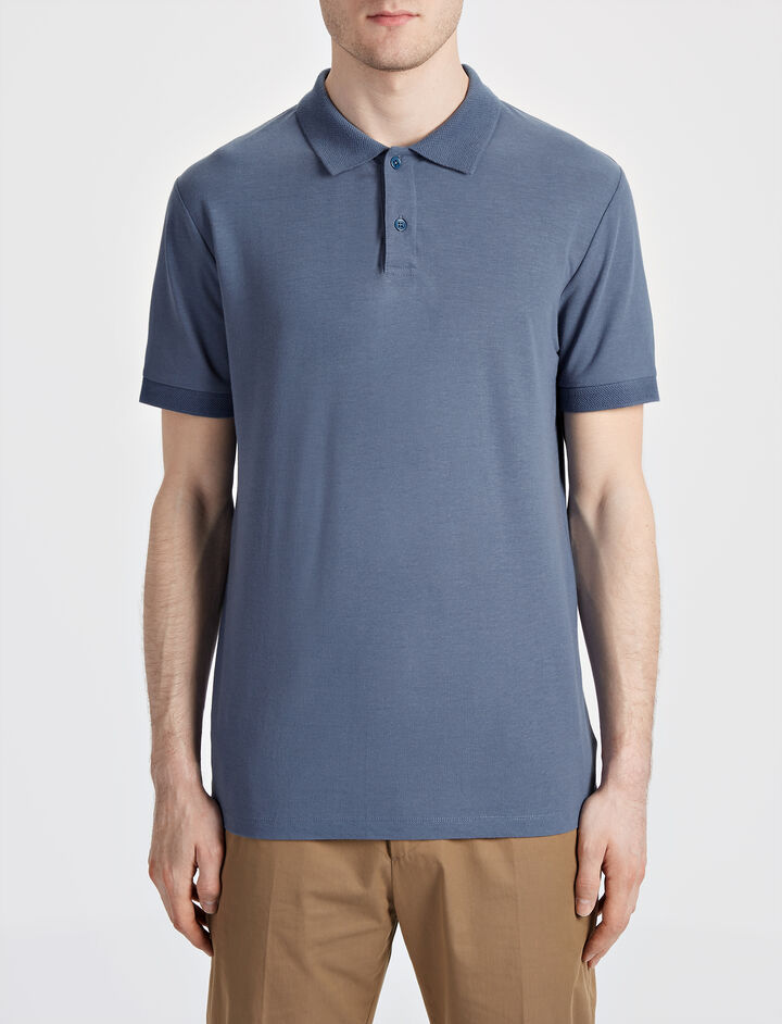 Ice Jersey Polo, in STEAL, large | on Joseph