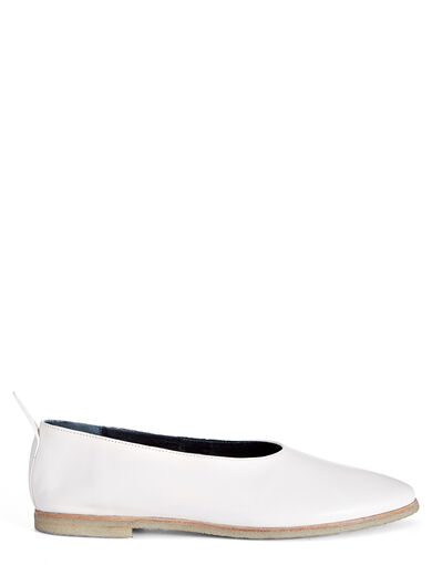 Ballerines Cuir de Veau, in WHITE, large | on Joseph