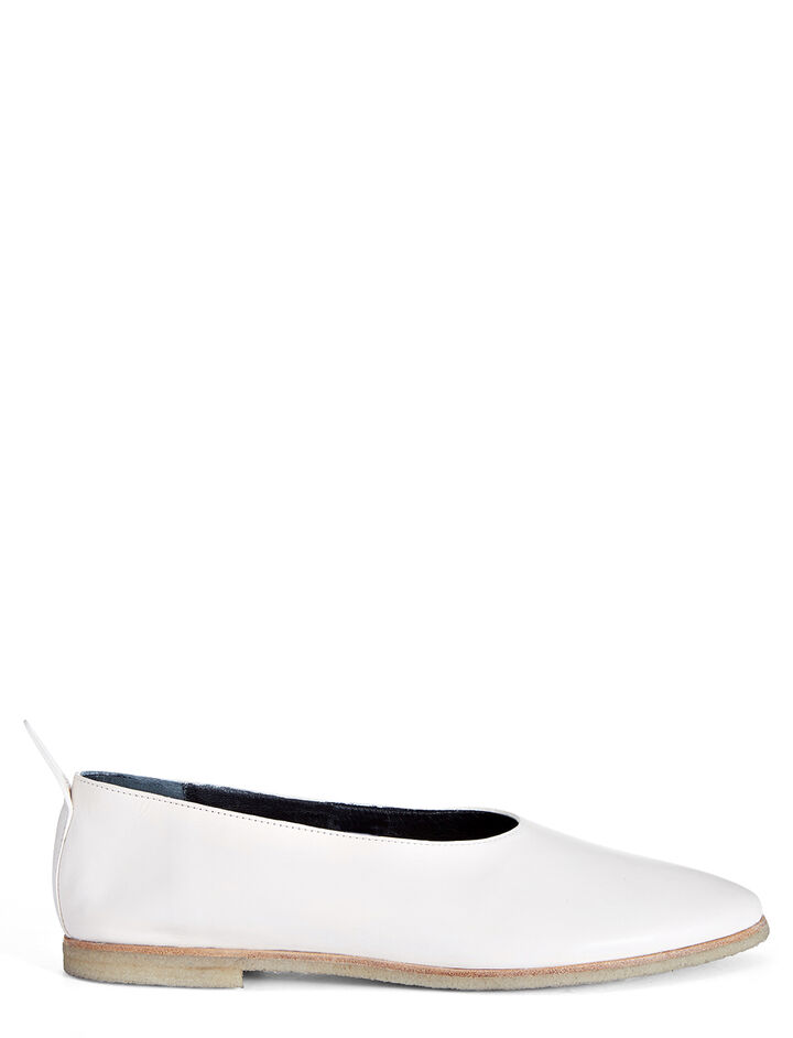 Calf Leather Ballerina, in WHITE, large | on Joseph