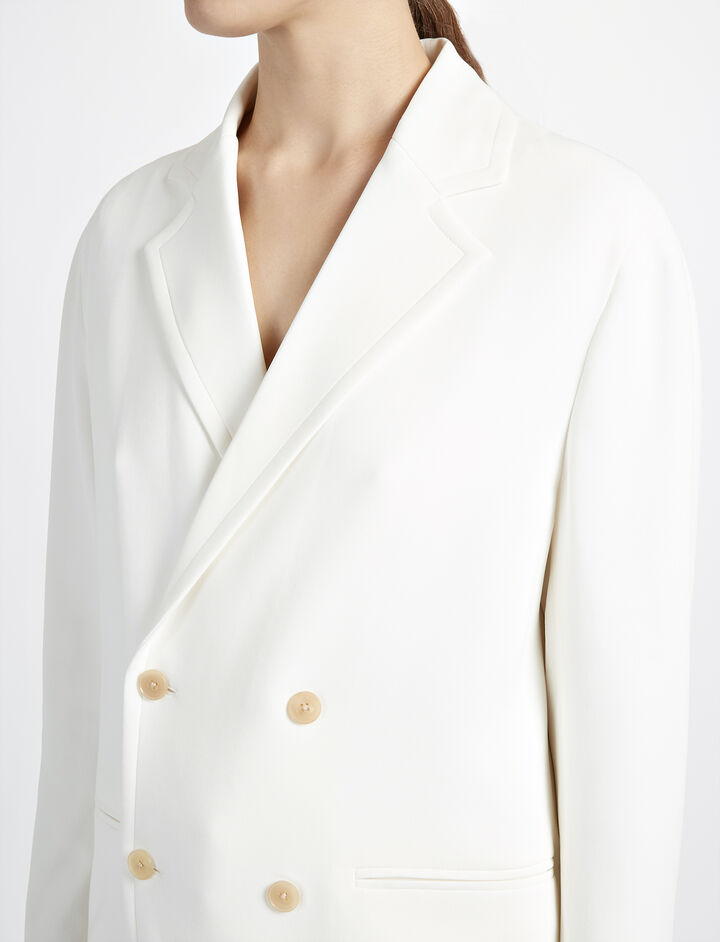 Viscose Cady Ritchie Jacket, in BONE, large | on Joseph