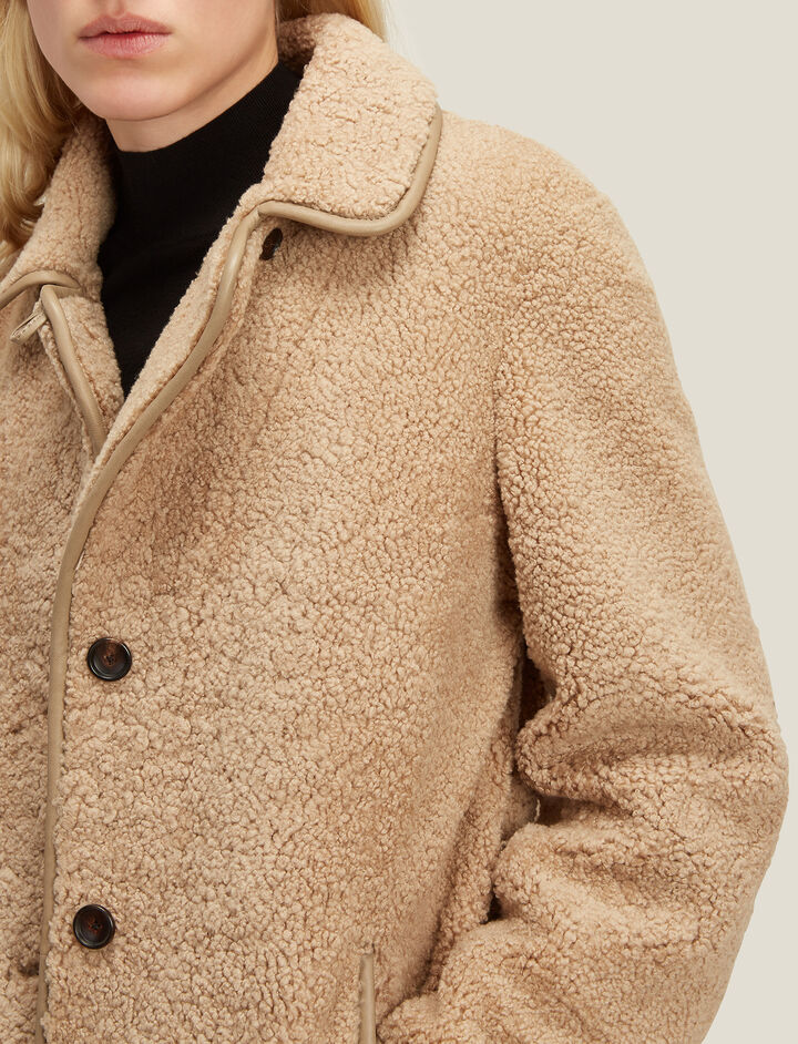 Joseph, Vintage Sheepskin Holm Coat, in TOBACCO