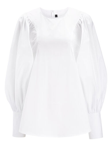 Blouse Flynn en popeline, in White, large | on Joseph