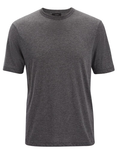 Lyocell Jersey  Tee, in Graphite, large | on Joseph