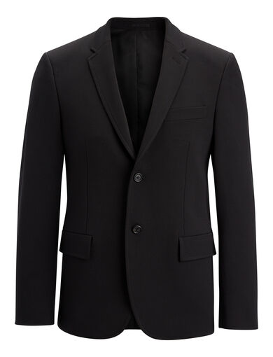 Techno Wool Stretch Reading Suiting Jacket, in BLACK, large | on Joseph