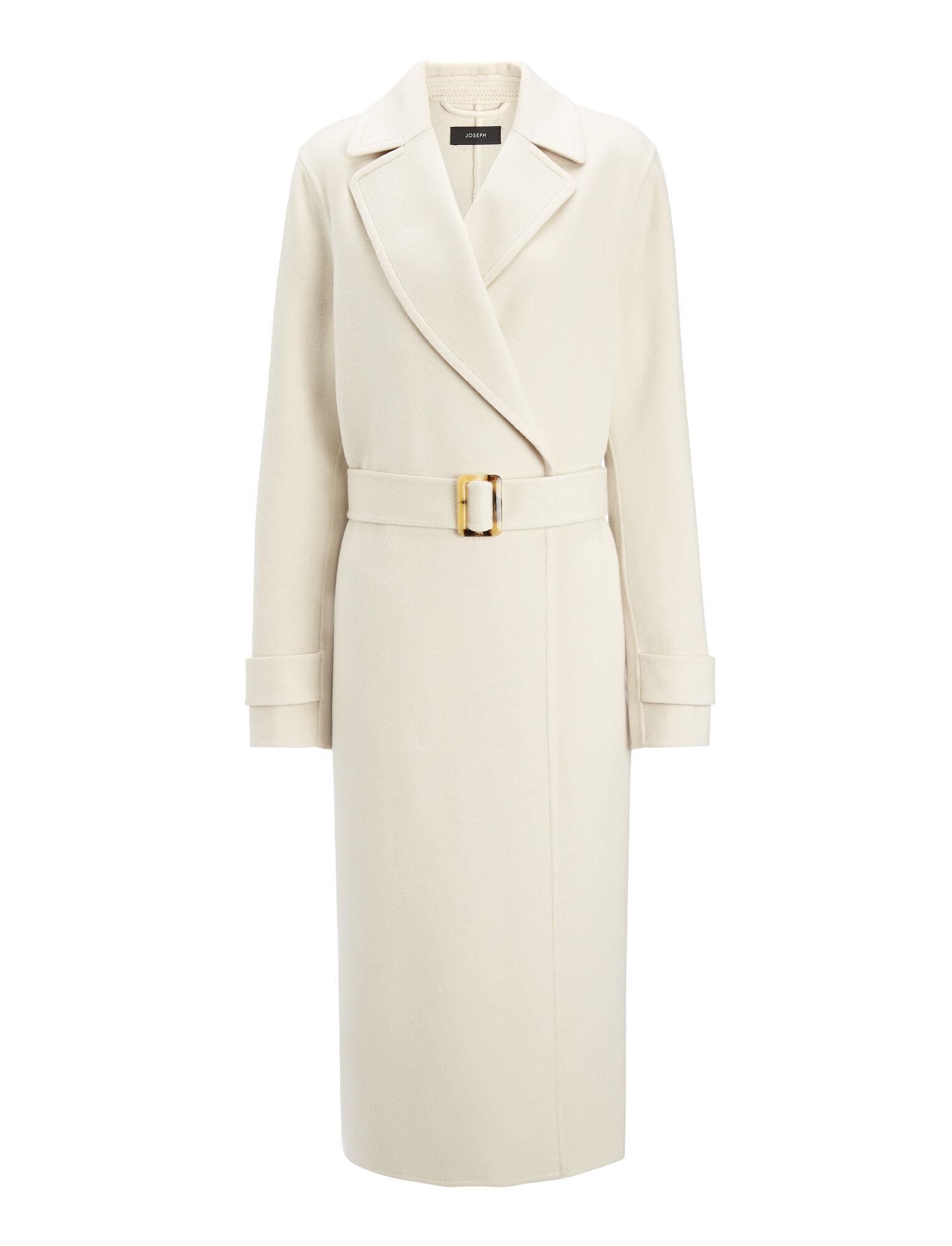 Double Face Cashmere Dale Coat, in BONE, large | on Joseph