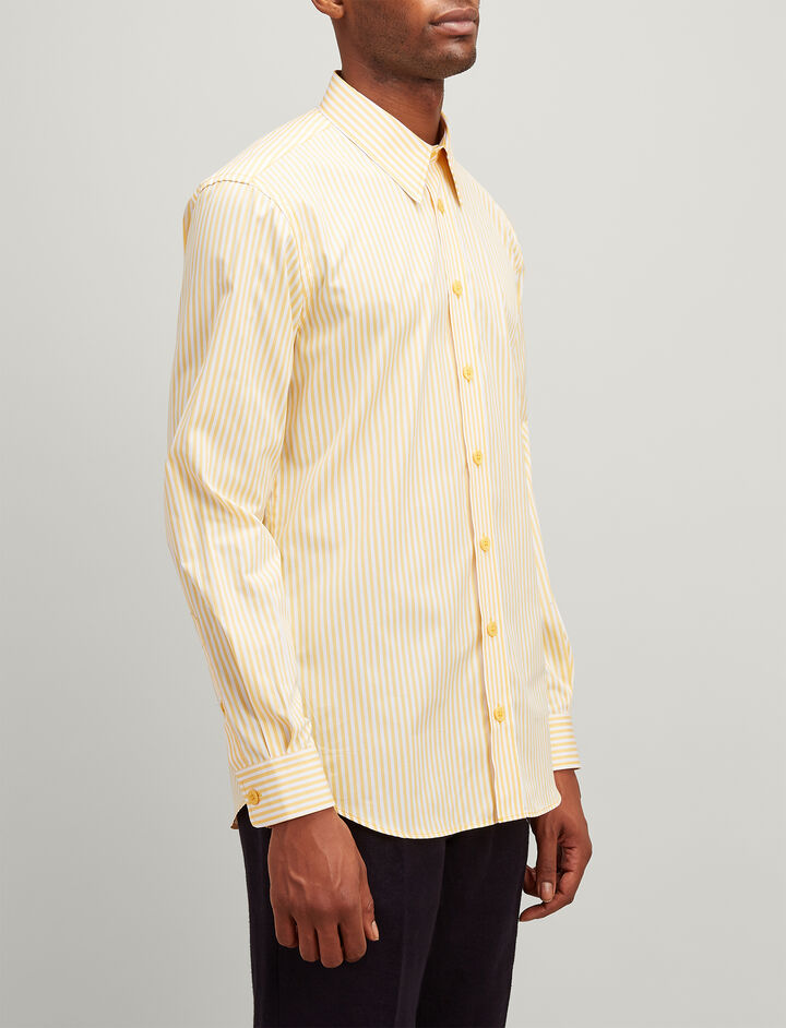 Joseph, Candy Stripe Moriston Shirt, in CUSTARD