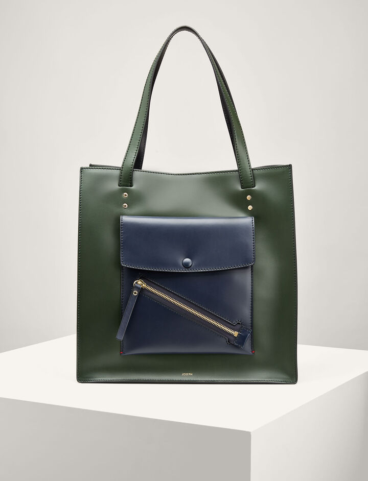 Joseph, Leather Portobello Bag, in BERMUDA/NAVY