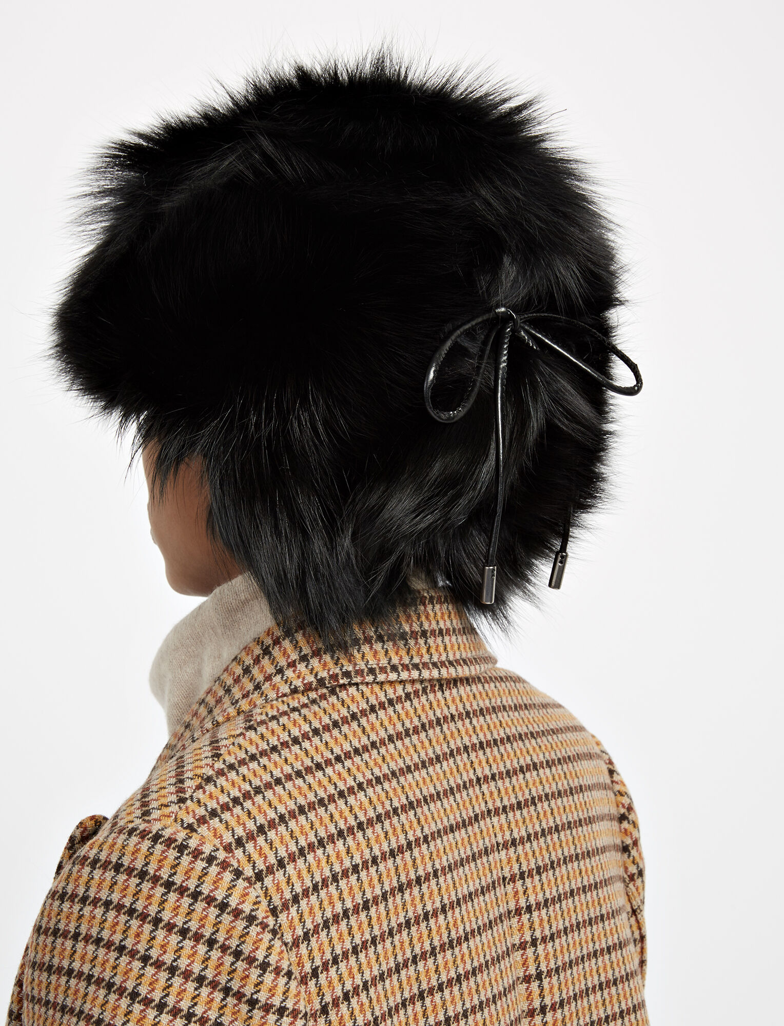 Joseph, Chapka Fox Fur Hat, in BLACK