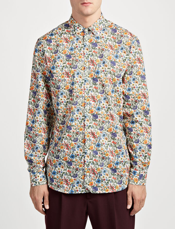 Liberty Print John Shirt, in MULTICOLOUR, large | on Joseph